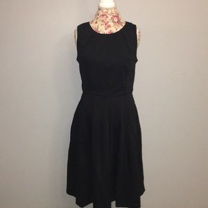 Talbots black midi dress